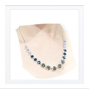 Multicolor Stone Necklace Sterling Silver